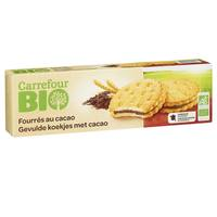 Carrefour Bio Organic Biscuits Filled with Cocoa 185g