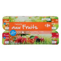 Carrefour Yoghurt With Assorted Fruit 125gx16