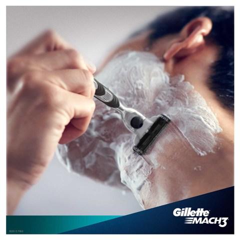 Gillette-Mach3-men's-razor-blade-refills,-8-count