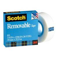 "Scotch Removable Boxed 3/4""X36Yds"