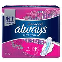 Always Diamond Ultra Thin Sanitary Pad Long 7 Pads