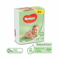 Huggies Wipes New Born Quad 56 Sheets 2+2 Free