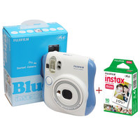 Fujifilm Camera Instax Mini 25 Blue + Instax Film Sheets