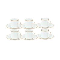 Ceramic Coffee Gold Set Of 6 Pieces