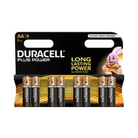 Duracell Plus Power Type AA Alkaline Battery X8