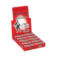 Bic Astor Stainless Double Edge Razor Blades Box Of 20 Packs Of 5