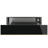SMEG Built-In Worming Drawer CPR615NR Dolce Stil Novo Black Glass 15CM