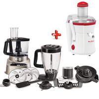 Moulinex Food Processor FP826H27P1+Juice Extractor ju350
