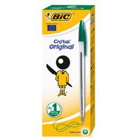 Bic Cristal Medium Green Pen 10Pcs