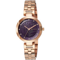 Giordano Women's Watch Analog Display Blue Dial Rose Gold Stainless Steel Bracelet - 2784-55