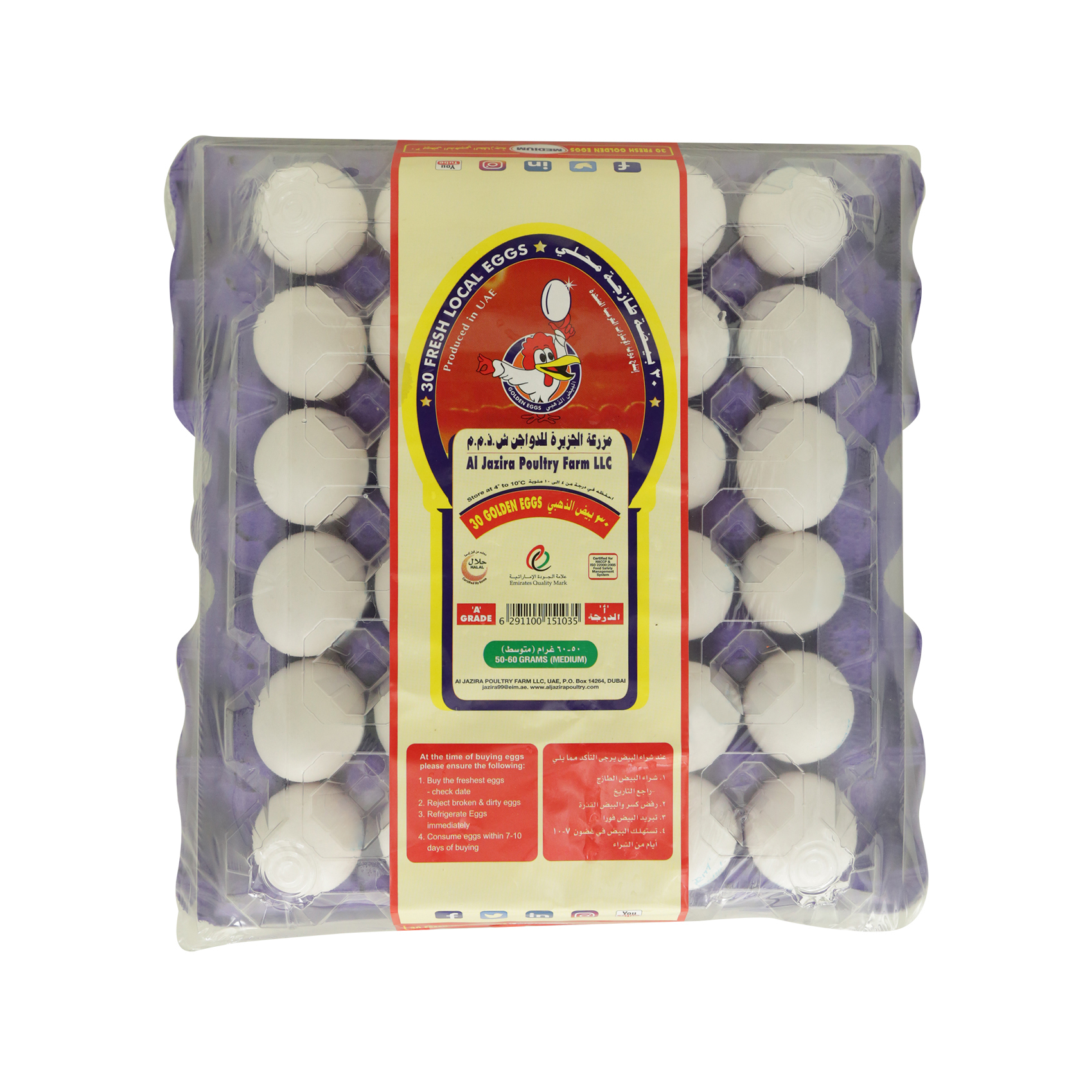 AL JAZIRA EGGS WHITE MEDIUM X30