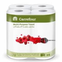 Carrefour Multi- Purpose Towel 90 Sheet 3 Ply 4 Rolls