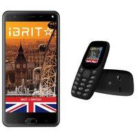 iBrit i7 Dual Sim 4G 32GB Grey + iBrit Mobile Retro Dual Sim