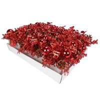 Christmas PDQ Of Flower Picone-Red