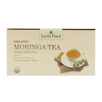 Earth's Finest Organic Moringa Tea with Green Tea 37.5g