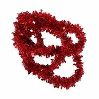Christmas Star Tinsel Garland 5 Cm Red