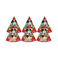Disney Mickey Mouse Clubhouse Cone Shaped Birthday Party Hats 6 Pieces