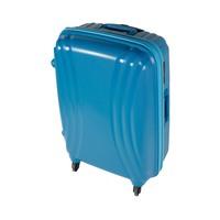 تراك هاي حقيبة سفر خامة صلبة 4 عجلات مقاس 25 انش لون أزرق