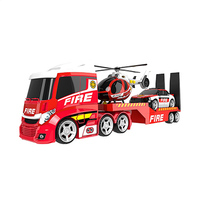 Teamsterz Light & Sound Fire Helicopter Transporter