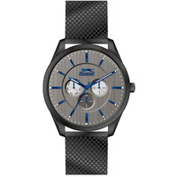Slazenger Men's Analog Display Grey Dial Black Stainless Steel Bracelet - SL.9.6003.2.02