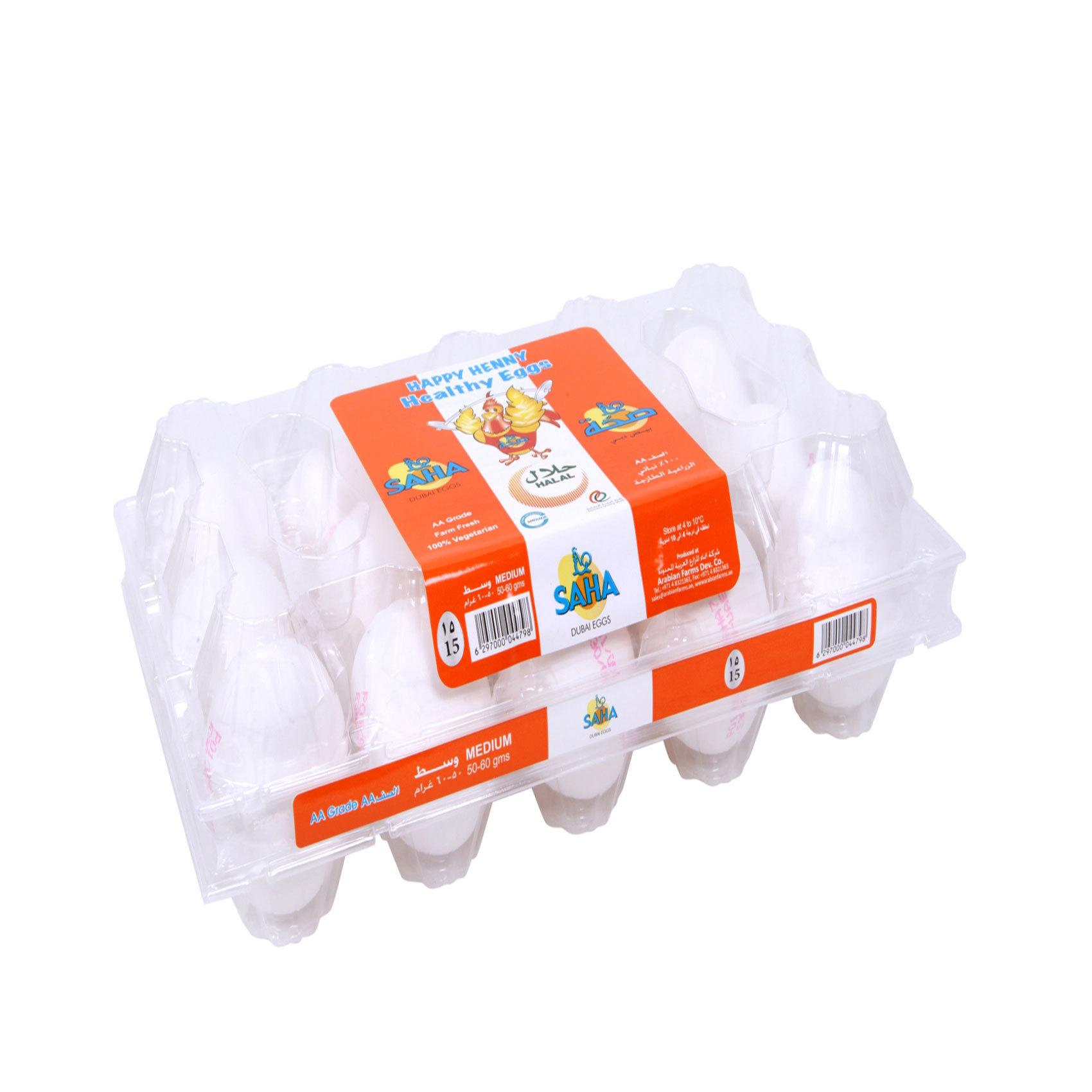 SAHA WHITE EGGS MEDIUMX15
