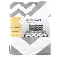 TEX Quilt Cover Single M Grey