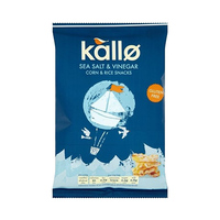 Kallo Corn Salt And Vingar Rice Snack 25 Gram