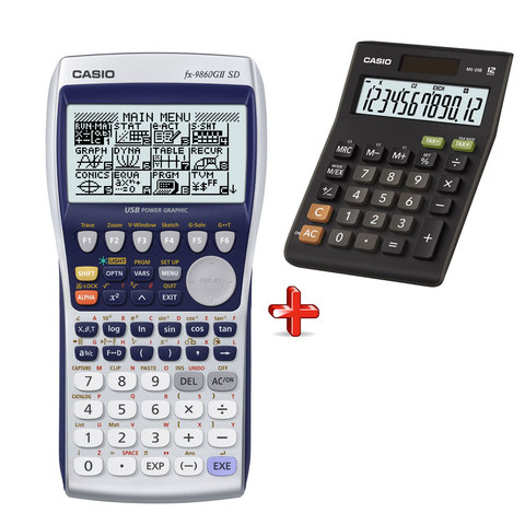 Casio-Graphic-Calculator-FX-9860-GII-SD-+-Casio-Calculator-MS20