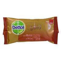 Dettol Gold Skin Wipes 10's