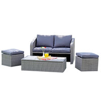 Rattan Lyon Set 4Pcs (Delivered In 7 Business Days)