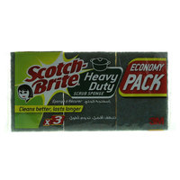 Scotch Brite Heavy Duty Scrub Sponge 3 Pieces