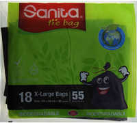 Sanita Tie Bag X-Large 55 Gallon 18 Bags