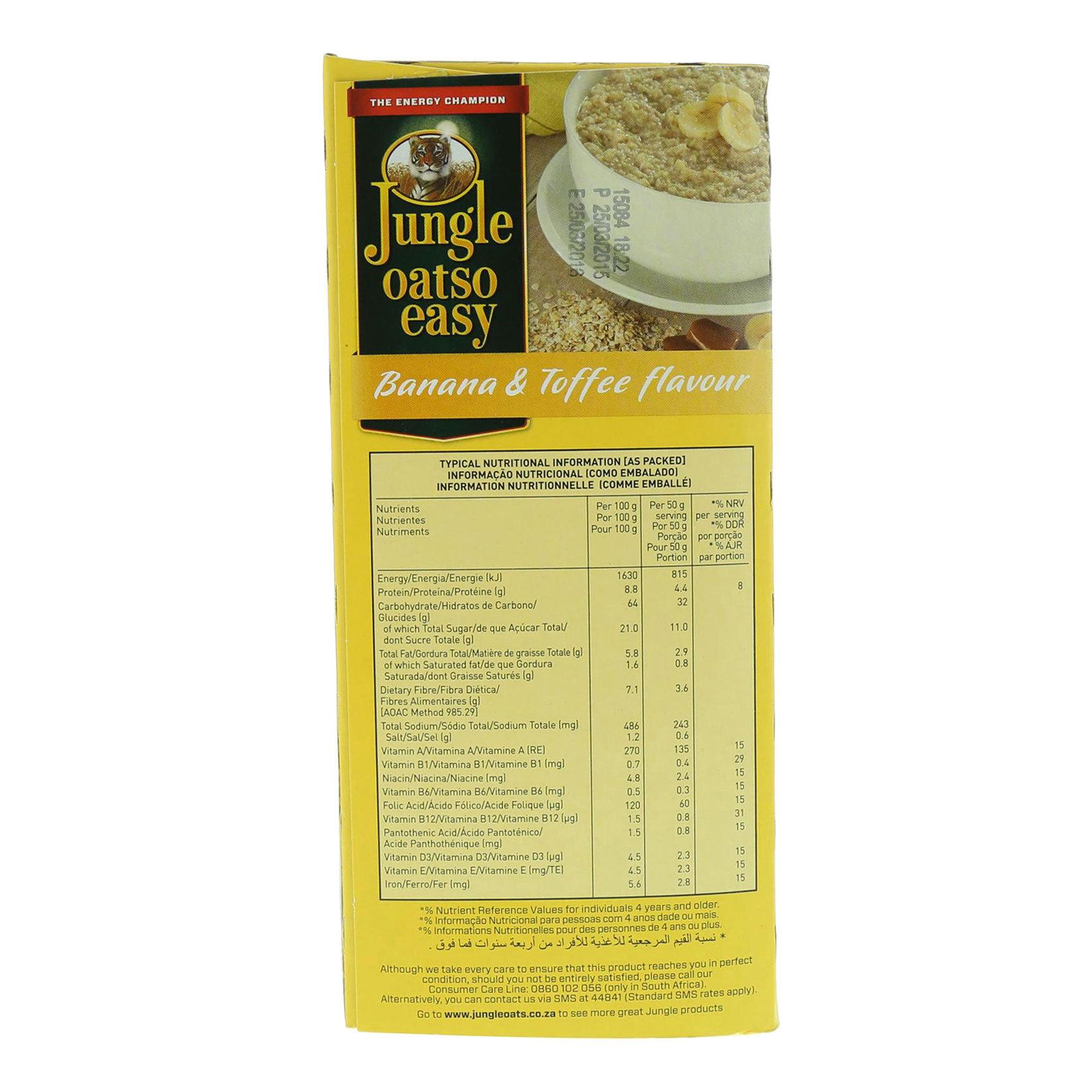 JUNGLE OATS EASY BANANA&TOFFEE 500G