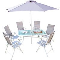 Hk Textile Patio Set 8Pcs ( Delivered In 7 Business Days)