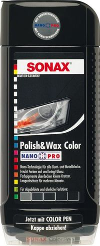 Sonax Polish And Wax Nano Pro Black