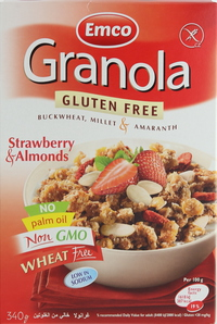 Emco Granola Gluten Free Strawberry & Almonds 340g