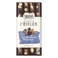 Nestle Atelier Dark Blueberries Hazelnuts Almonds 195g