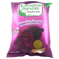 Cassava Amazing Purple Sweet Potato Chips Sea Salt 80 g