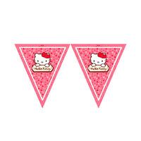 Sanrio Hello Kitty Triangle Flag Banner