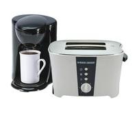 Black & Decker Toaster, 2 Slice - ET122DCM25 + Coffee Maker, 1 Cup