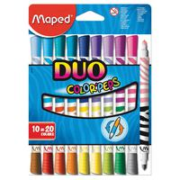 Maped Duo Felt Tip Pens - Set Of 10 Pcs