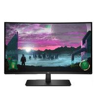 إتش بي شاشة كمبيوتر 1AT01AA منحنية حجم 27 إنش لون أسود