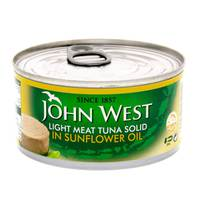 John West Light Meat Tuna Solid in Sunflower Oi 120 gl