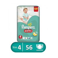 Pampers Diapers Active Baby Max Jumbo Pack  Size 4 56 Pieces -12%
