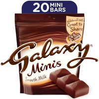 Galaxy® Minis Smooth Milk Chocolate Mini Bars Pouch 250 g (20 Pieces)
