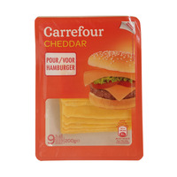 Carrefour Red Cheddar Cheese For Hamburger 200g