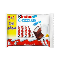 Kinder Milk Chocolate Maxi Bars 21GR 5+1 Free