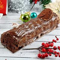 Large Butter Chocolate Yule Log Cake