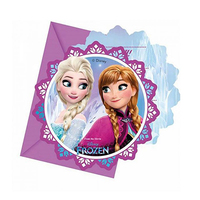 Disney Invitation Card Frozen Northern 6 Pieces