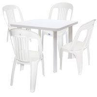 Cosmo Square Set Table+4 Chairs